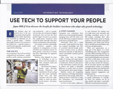 Use technology to support your sales people Builders Merchants News